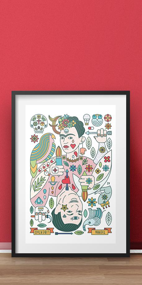 Diego Rivera y Frida Khalo
